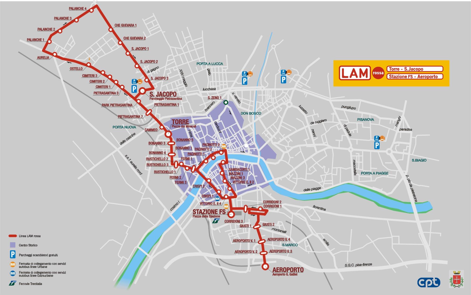 VenueMobiOpp - Pisa bus map